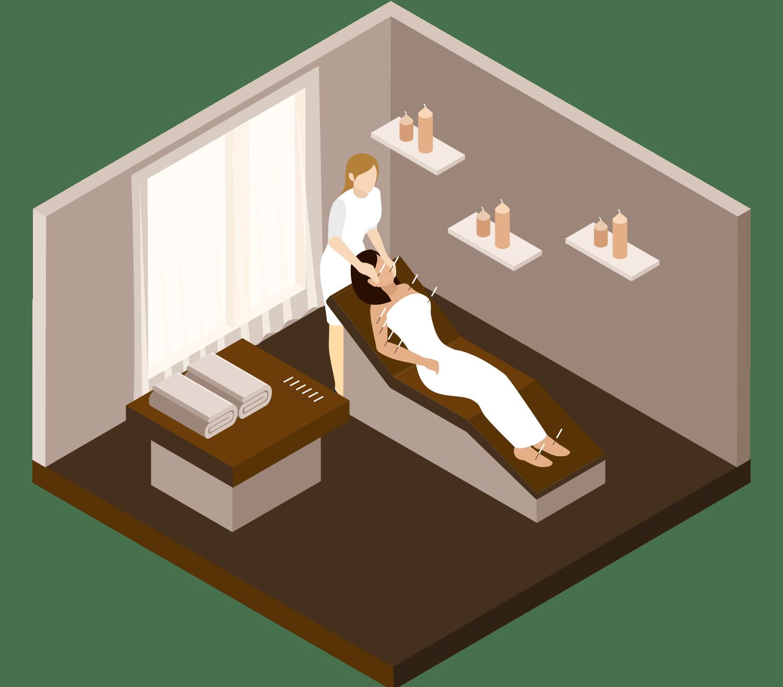 Animation af Akupunktur behandling - Ahlsten Helse