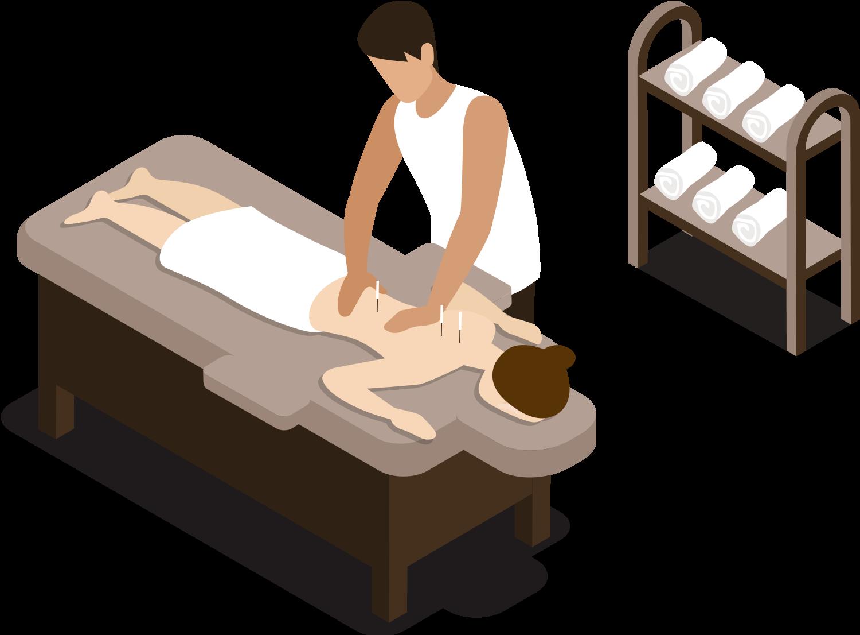 Animation af Akupunktur behandlingAnimation af Akupunktur behandling